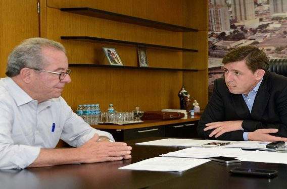 José Anibal visitou Orlando Morando na Prefeitura de São Bernardo