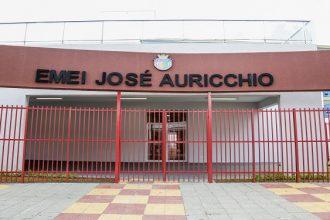 Foto 1 - Fachada da nova escola, na Rua Santa Rosa, 79