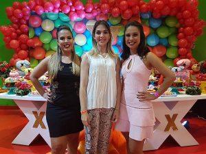 A primeira-dama de Santo André, Ana Carolina Barreto Serra, prestigiou o evento das empresárias Aline e Cecília Lobo