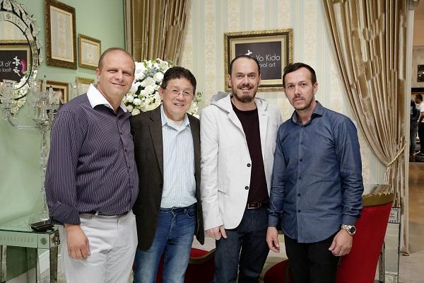 Leone, Yo Kido, Pedro Gazola e Vicente Mendonça: novos parceiros