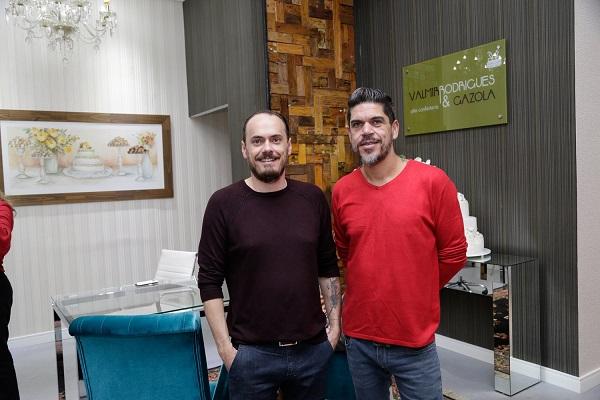 Pedro Gazola e Valmir Rodrigues comandam grife de bolos e doces finos e se juntam ao time