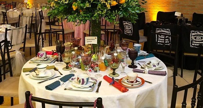 cha de mesas decoradas