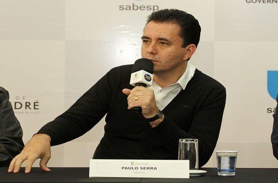 Prefeito Paulo Serra - Entrevista coletiva - Prefeitura_Sabesp - Fotos - Helber Aggio_PSA (4)